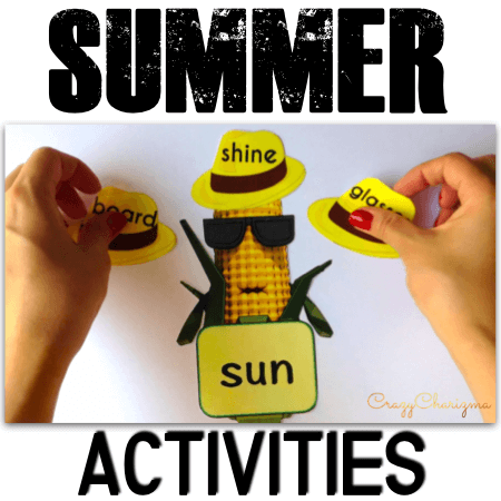 To engage kids on a summer break is challenging and you'll definitely need fun and hands-on activities! Practice compound words with Cornman. Just print, cut and laminate the game to use over and over!