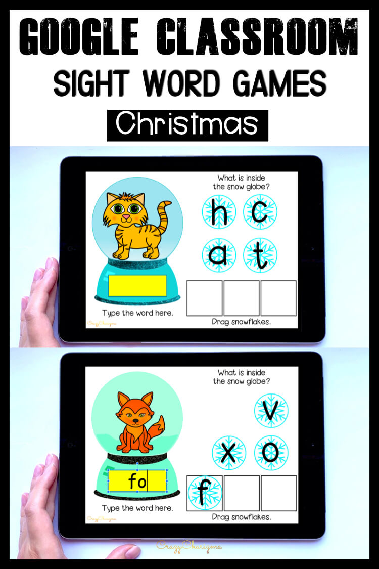 Need engaging Christmas activities for kids? Grab this paperless game for Google Classroom kindergarten. Kids will have fun with reading CVC words and typing the words.