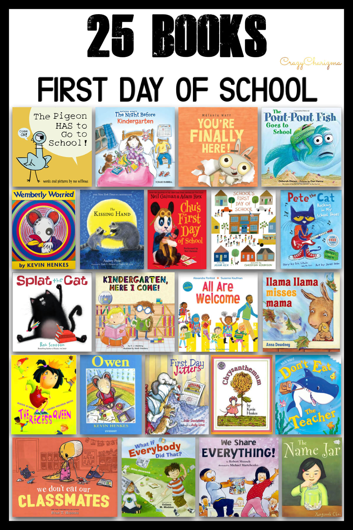 What are great first day of school books that you use? I got the question on my Instagram and email list. So I've done some research and also included the beginning of the year books I've used with kids.
