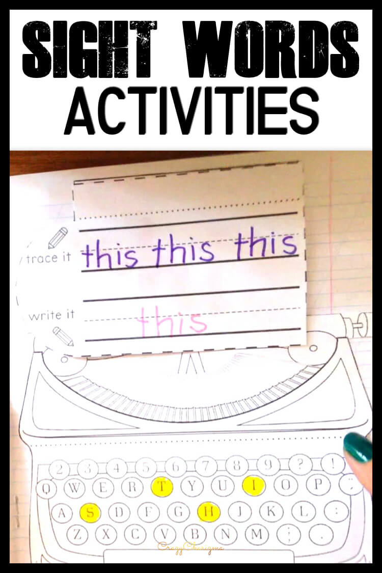 How do you teach sight words to kindergarten kids? You use interactive notebooks of course! See them in action and download for free to try yourself!