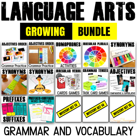 Do you need a comprehensive way to practice numerous Grammar and Vocabulary topics in 3rd, 4th and 5th grade? Grab this time saving growing bundle of language arts centers and games for your students.