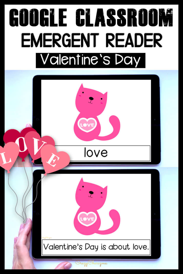 Looking for an engaging emergent reader for preschool and kindergarten? Want to introduce Valentine's Day to kids? Read with this sight word reader! Use these Valentine's Day activities for Google Classroom or print and read! Great as a guided reader or for individual practice.