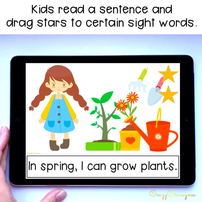 Looking for an engaging emergent reader for preschool and kindergarten? Want to introduce spring to kids? Read with this sight word reader! Use these spring activities for Google Classroom or print and read! Great as a guided reader or for individual practice.