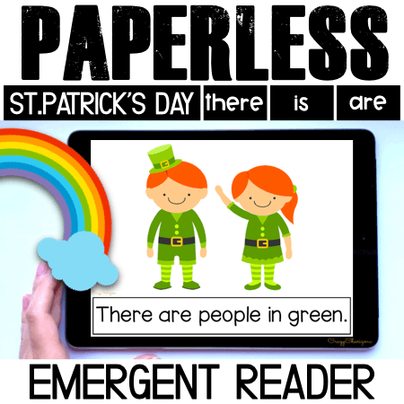 Looking for an engaging emergent reader for preschool and kindergarten? Want to introduce St. Patrick's Day to kids? Read with this sight word reader! Use these St. Patrick's Day activities for Google Classroom or print and read! Great as a guided reader or for individual practice.
