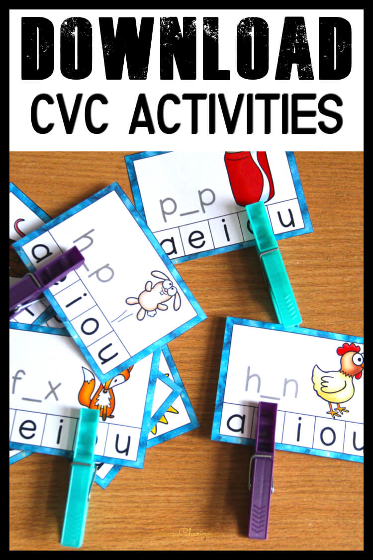 Download free word work activities from CrazyCharizma resource library for K-2 teachers.