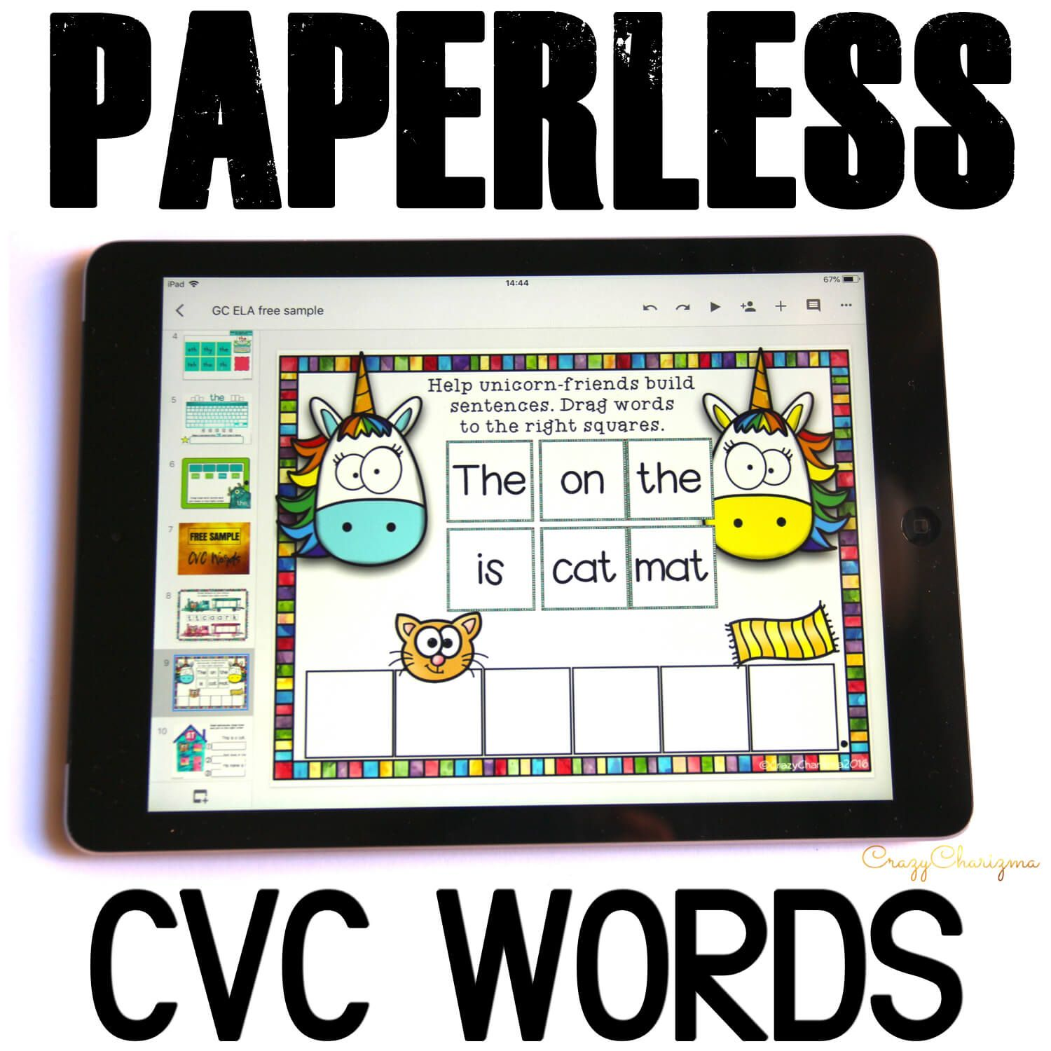 Want to engage kids with CVC word sentences? Try activities for Google Classroom in kindergarten. With images as visual help, students read sentences in a fun way!