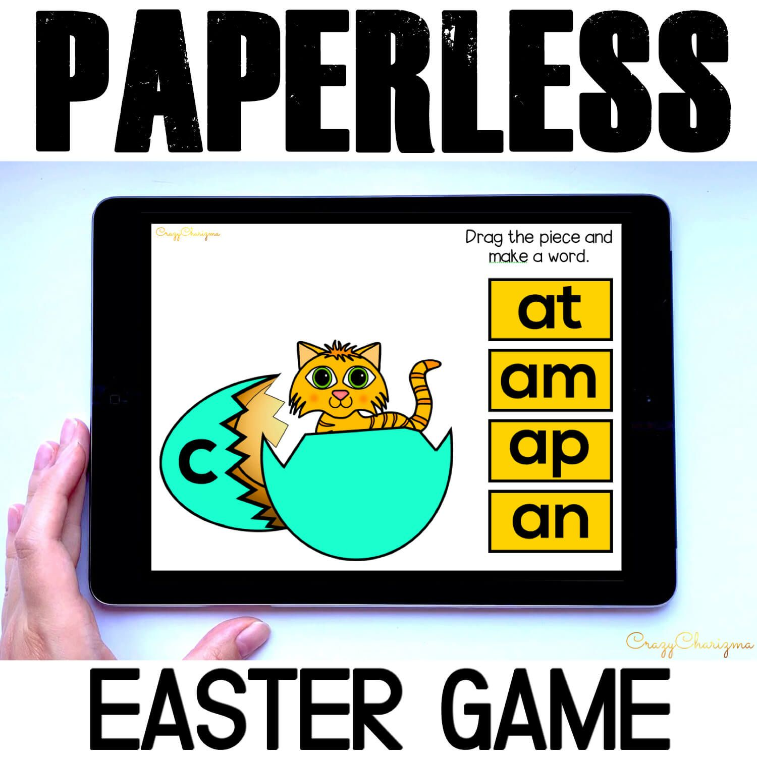 Need engaging Easter activities for kindergarten? Have fun practicing word families and let kids engage with building CVC words. This paperless set is perfect for Google Classroom and Google Slides.