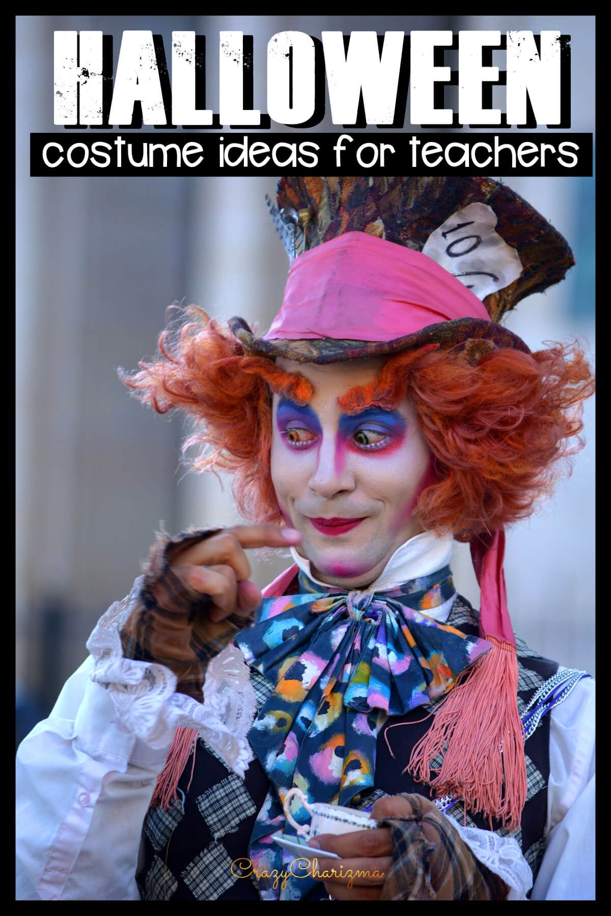 Looking for easy last-minute Halloween costumes for teachers? Save this huge list with costumes on various topics: science, group costumes, book characters, DIY, matching, team costumes and more!
