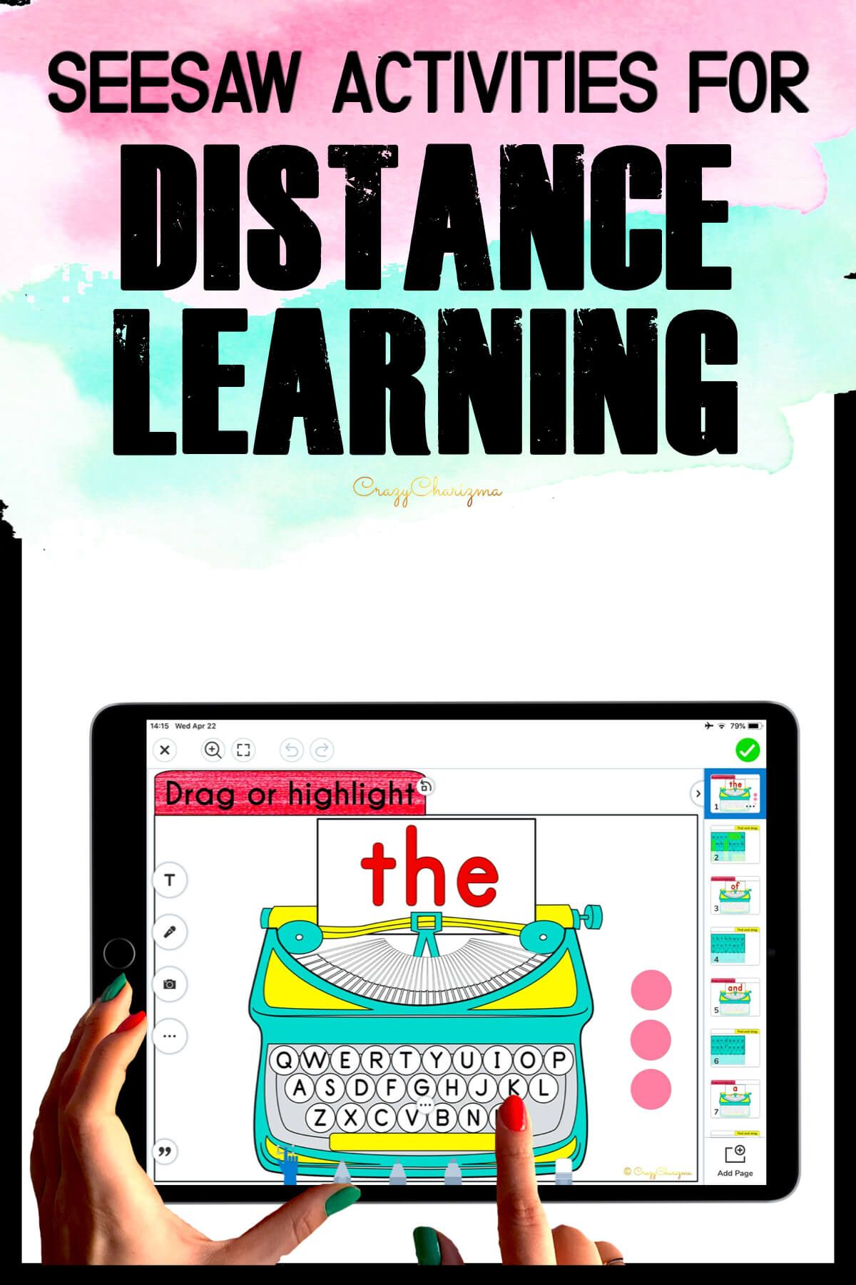 Need fun activities to use in Seesaw? Looking for engaging practice for distance learning? Try paperless sight word practice with typewriters. Perfect for prek, kindergarten, first and second grade!
