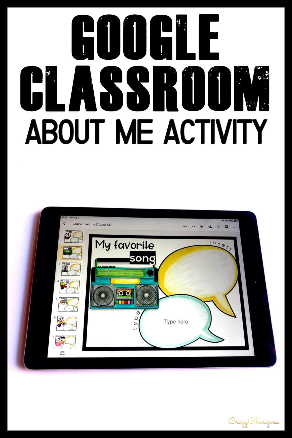 End of the year time can be super busy! What to use? When to do it? Let me save you some time with this ABOUT ME activity for Google Classroom. Kids will enjoy making projects about the things they love!
