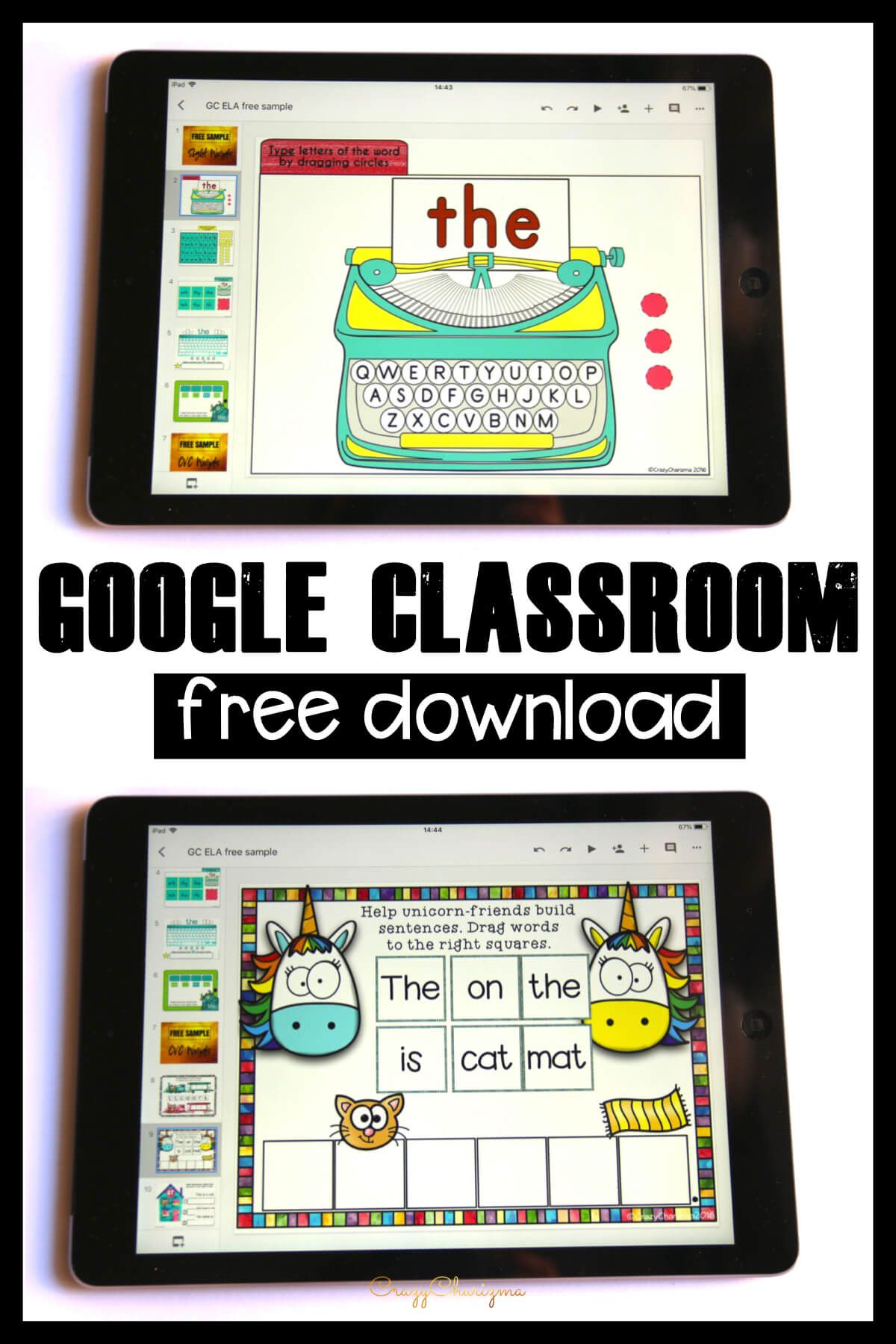 Google Classroom Games in Primary Grades | Free Activities to Try. Want to try Google Classroom in kindergarten or primary grades? Need to practice sight words and phonics? Download a free sample of ELA Games and Centers. Try interactive games on iPads, Chromebooks, tablets, laptops or the smart board!