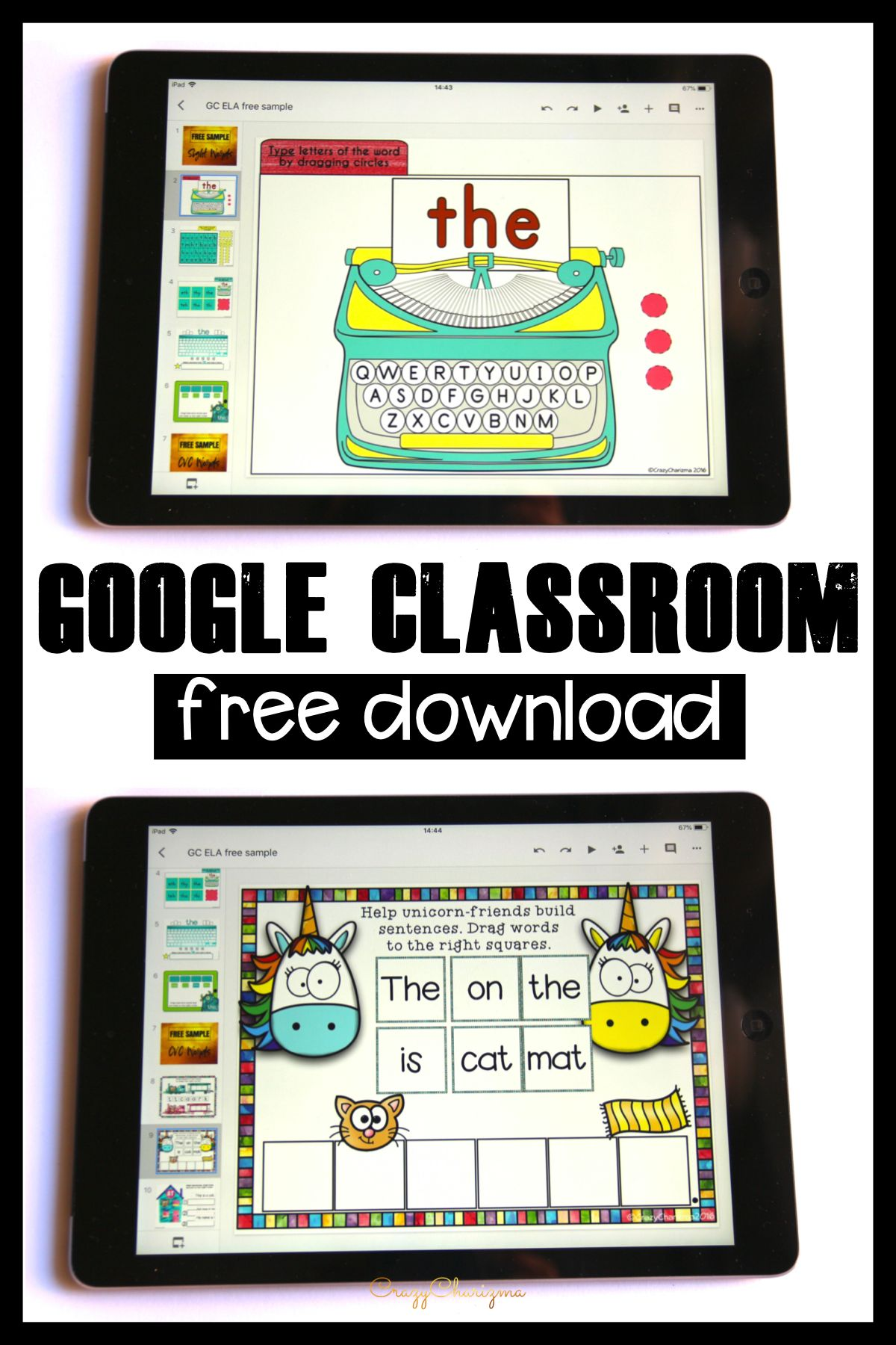 Free activities for Google Classroom.