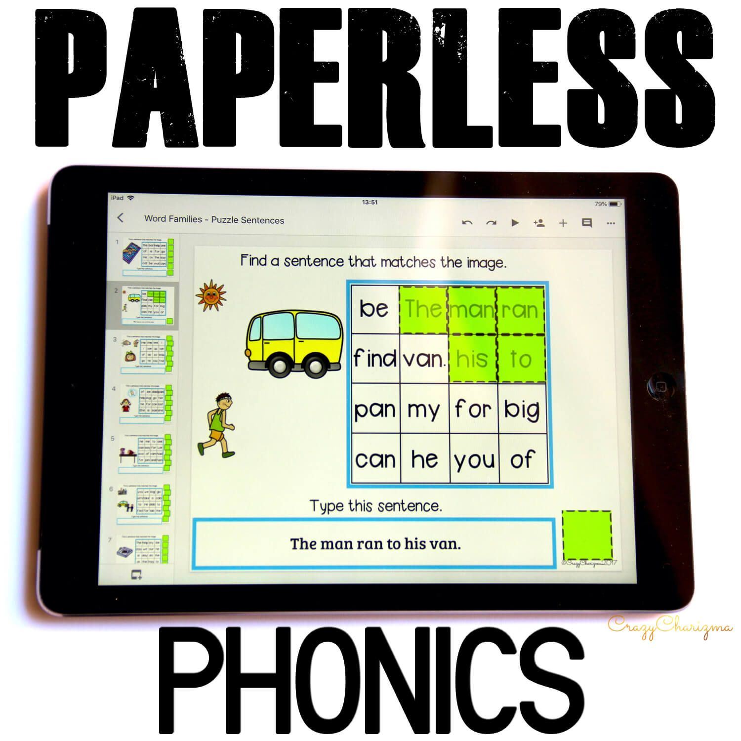 Grab fun phonics practice! Kids will find sentences, build them and use images as visual help. Also, kids will practice typing skills. These activities are perfect for Google Classroom and Google Slides!