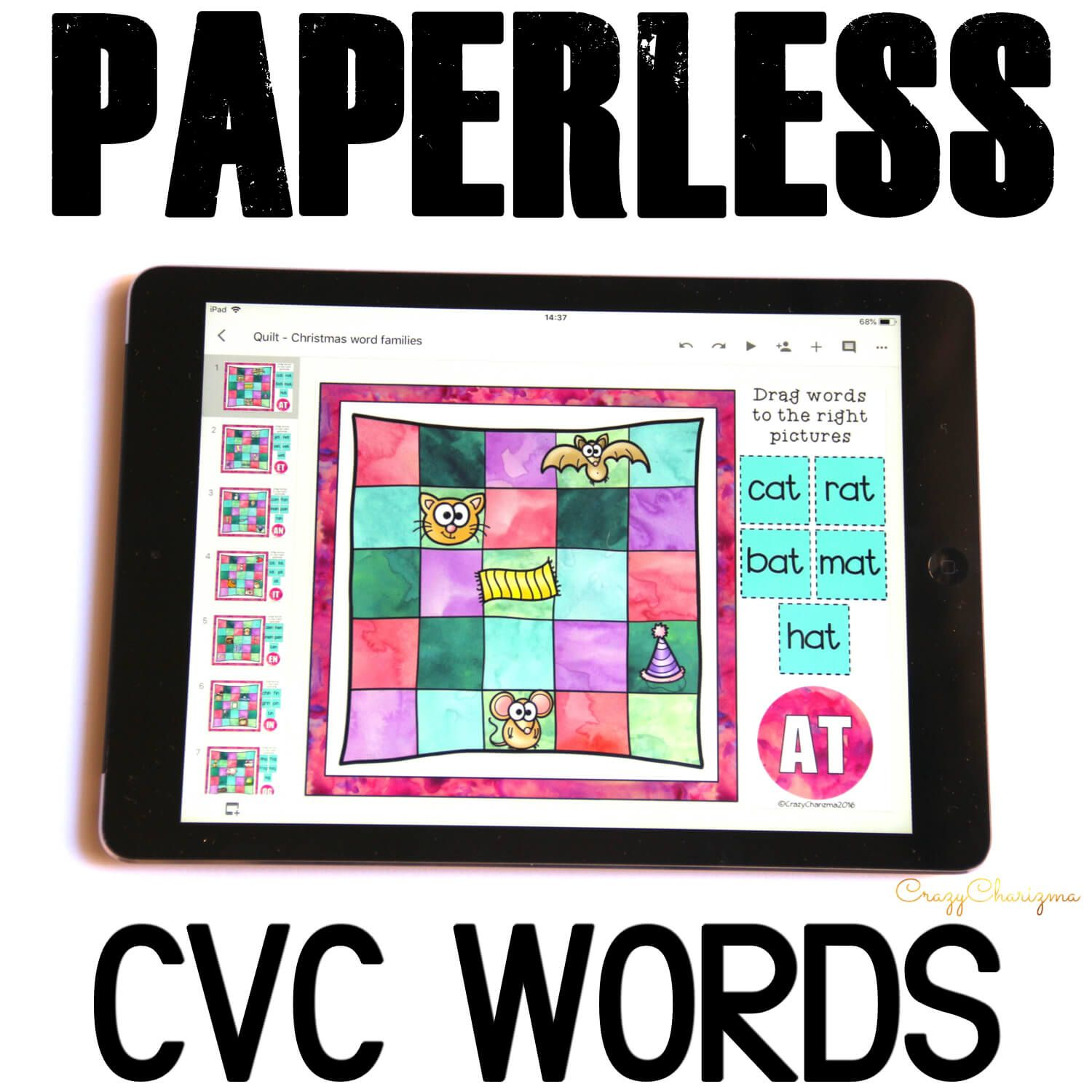 Want to practice CVC words on Chromebooks or iPads? Google Classroom activities are what you've been looking for! Engage kids with word work. Encourage to practice vocabulary in a fun way!