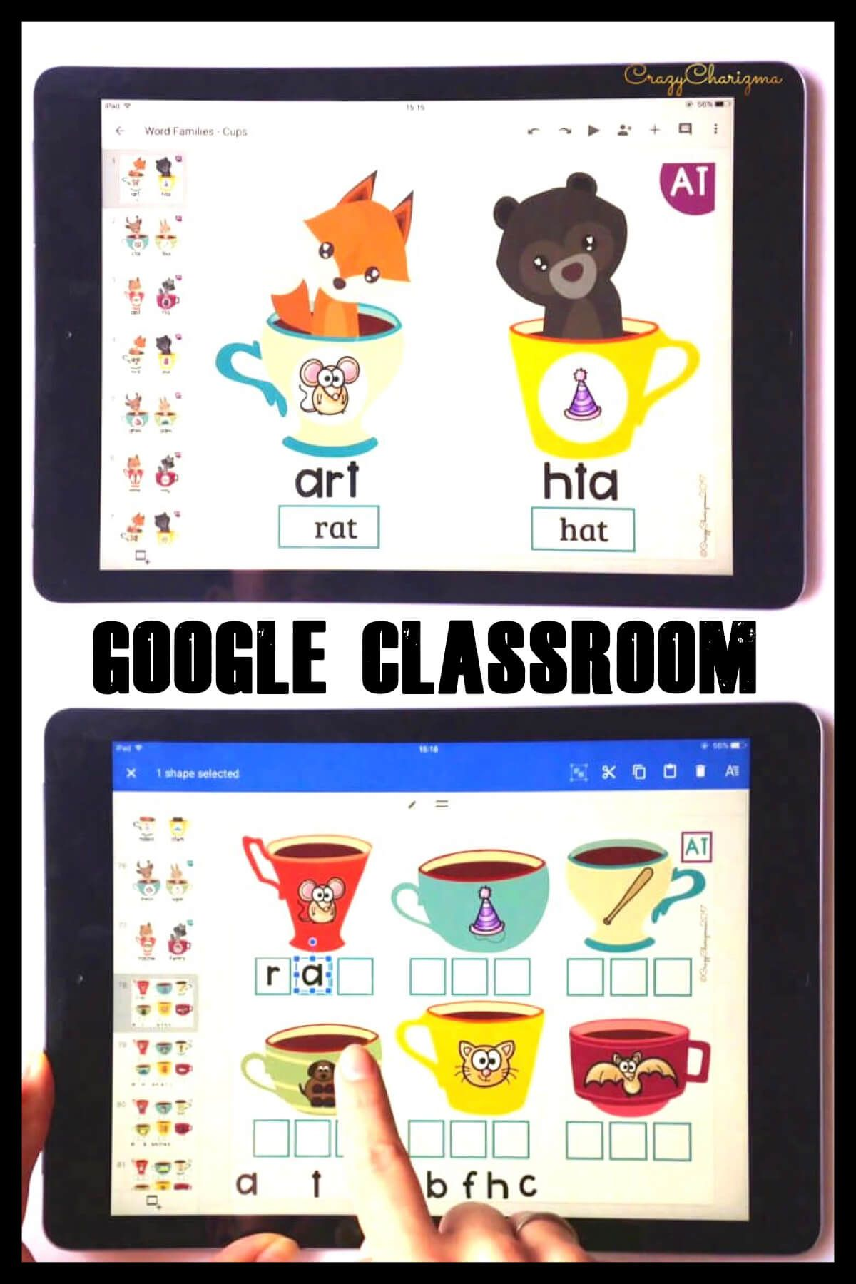 Practice CVC words, CVCe words and other phonics in a fun way! Train kids to type words and add the missing initial/medial/final letters to the words. Google Classroom in kindergarten can be fun!