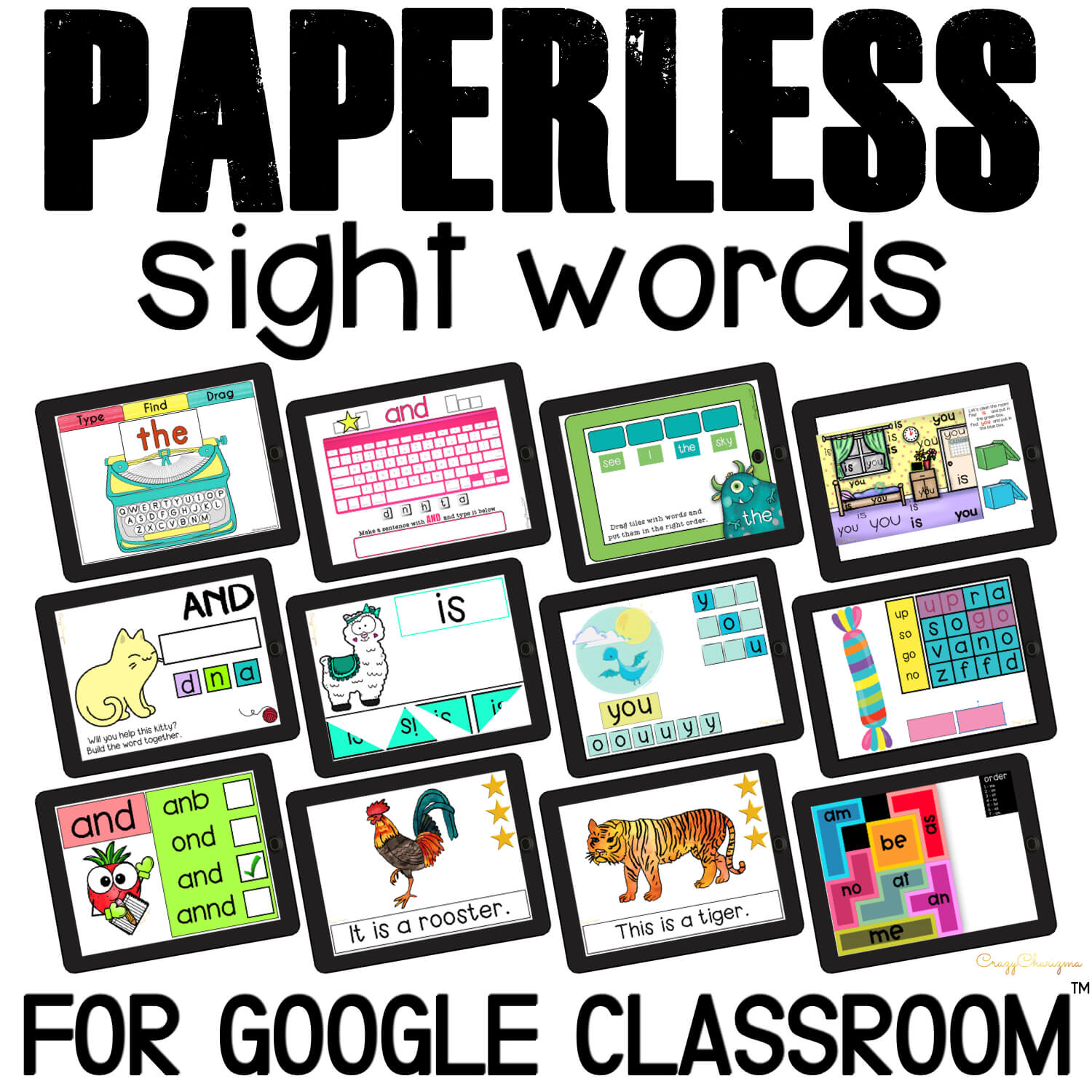 Google Classroom™ Activities Sight Words Bundle