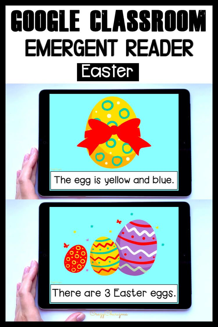Looking for an engaging emergent reader for preschool and kindergarten? Want to introduce Easter to kids? Read with this sight word reader! Use these Easter activities for Google Classroom or print and read! Great as a guided reader or for individual practice.