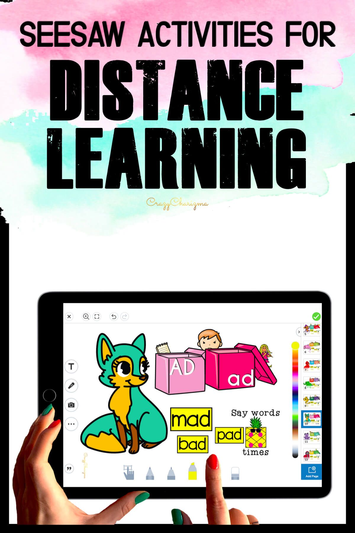 Need fun activities to use in Seesaw? Looking for engaging practice for distance learning? Try paperless CVC words practice with boxes. Perfect for prek, kindergarten, first and second grade!