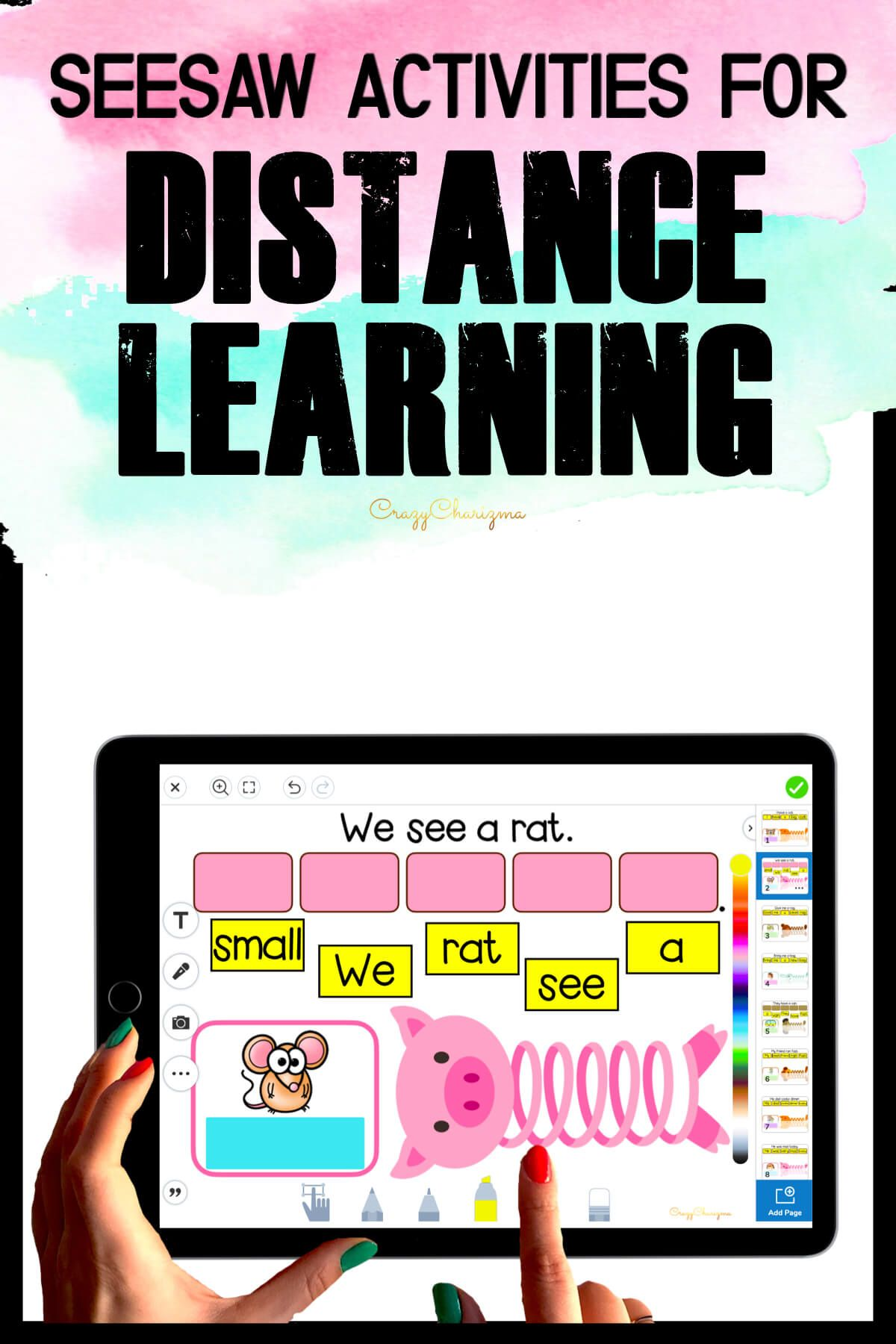 Need fun activities to use in Seesaw? Looking for engaging practice for distance learning? Try paperless CVC word sentences with slinky. Use during your literacy block, daily 5, guided reading, spelling, RTI, and literacy centers.