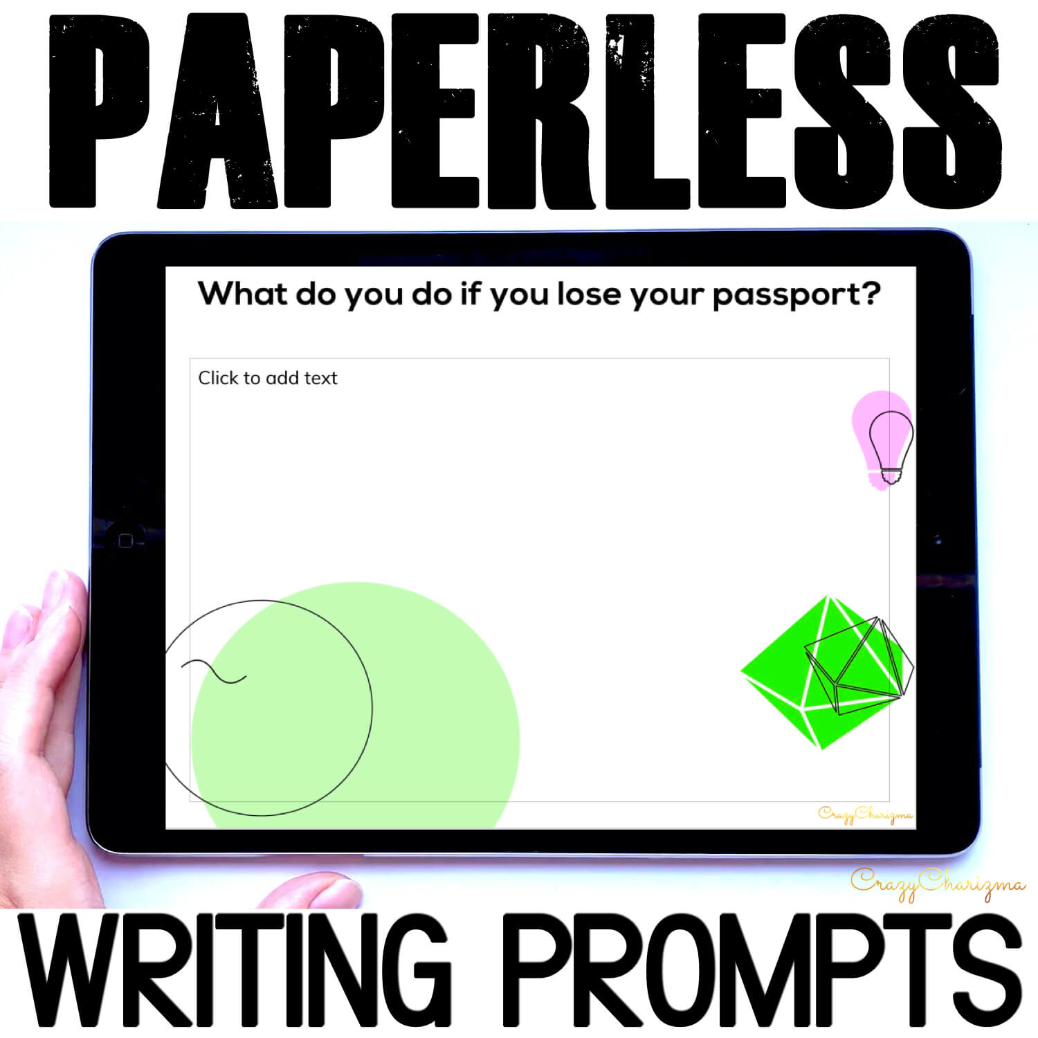 Need fun writing prompts for distance learning? Improve and inspire your students with writing and engaging CONDITIONALS practice. The prompts can be used as Writing Centers, as well as with teens and adults during ESL lessons. Practice conditionals type 1, type 2, type 3, and mixed types in a meaningful way!