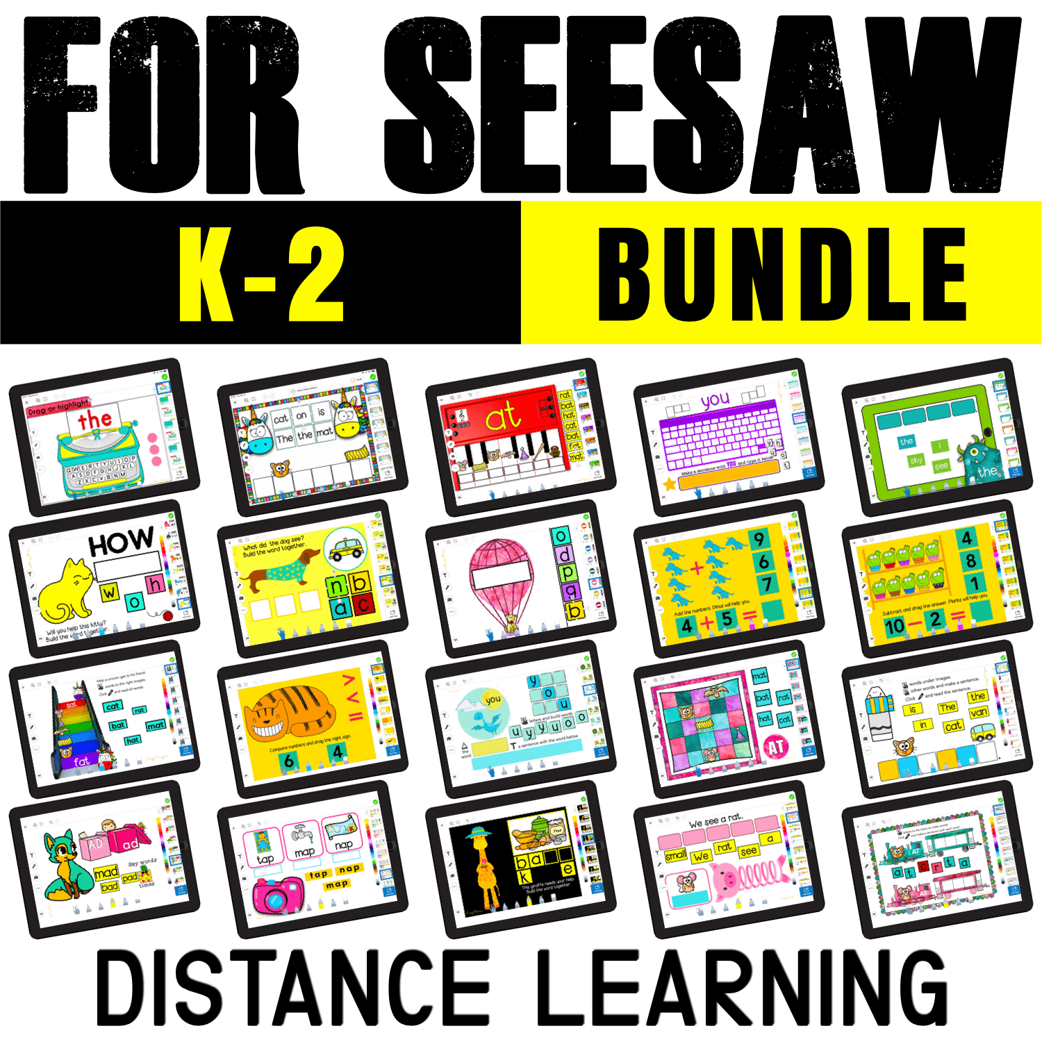 If you can't use Google Slides because kids don't have a Google account and can only use Seesaw, check out this growing bundle of activities specifically created for Seesaw.