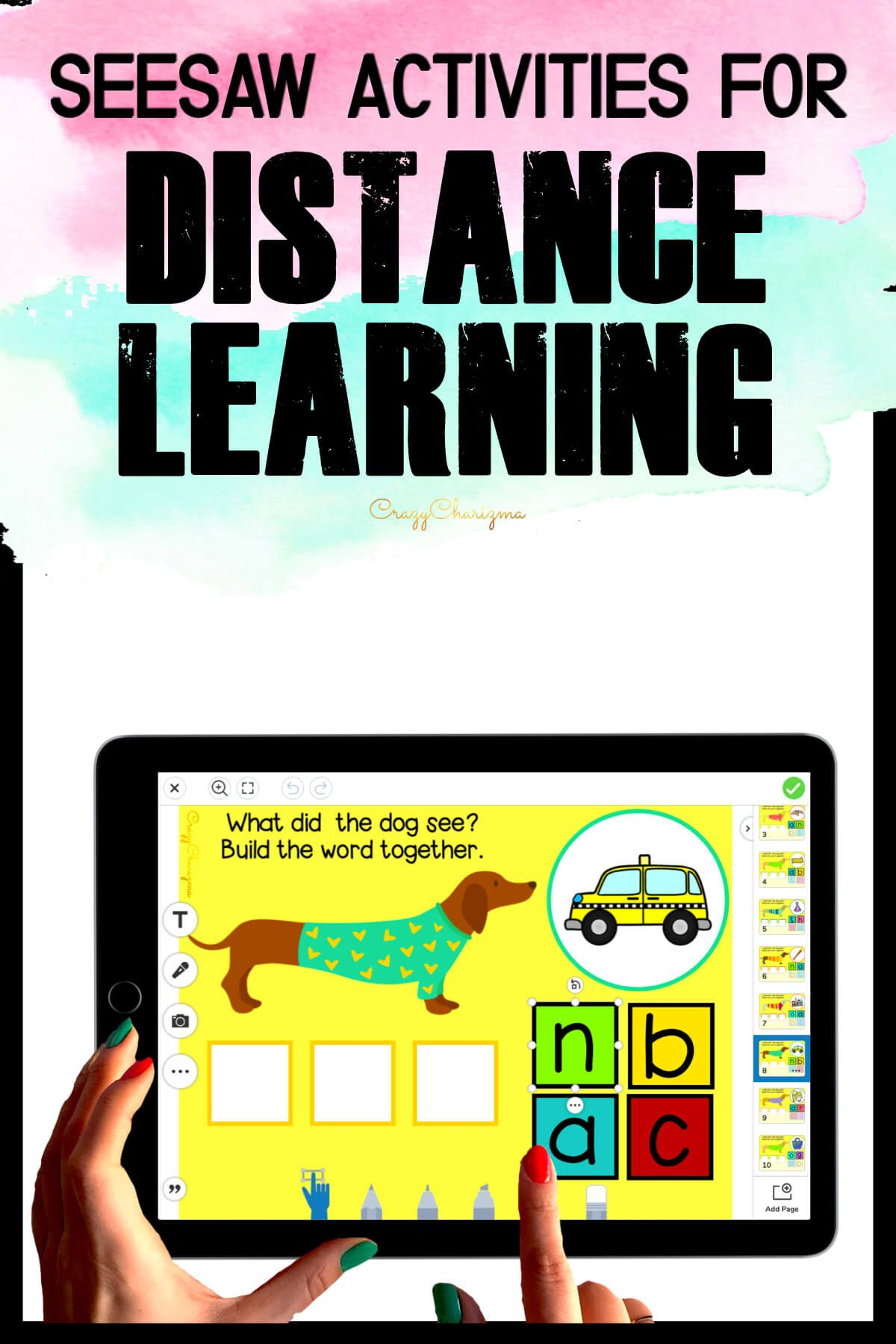 Need fun activities to use in Seesaw? Looking for engaging practice for distance learning? Try paperless CVC words practice with dogs. Perfect for prek, kindergarten, first and second grade!