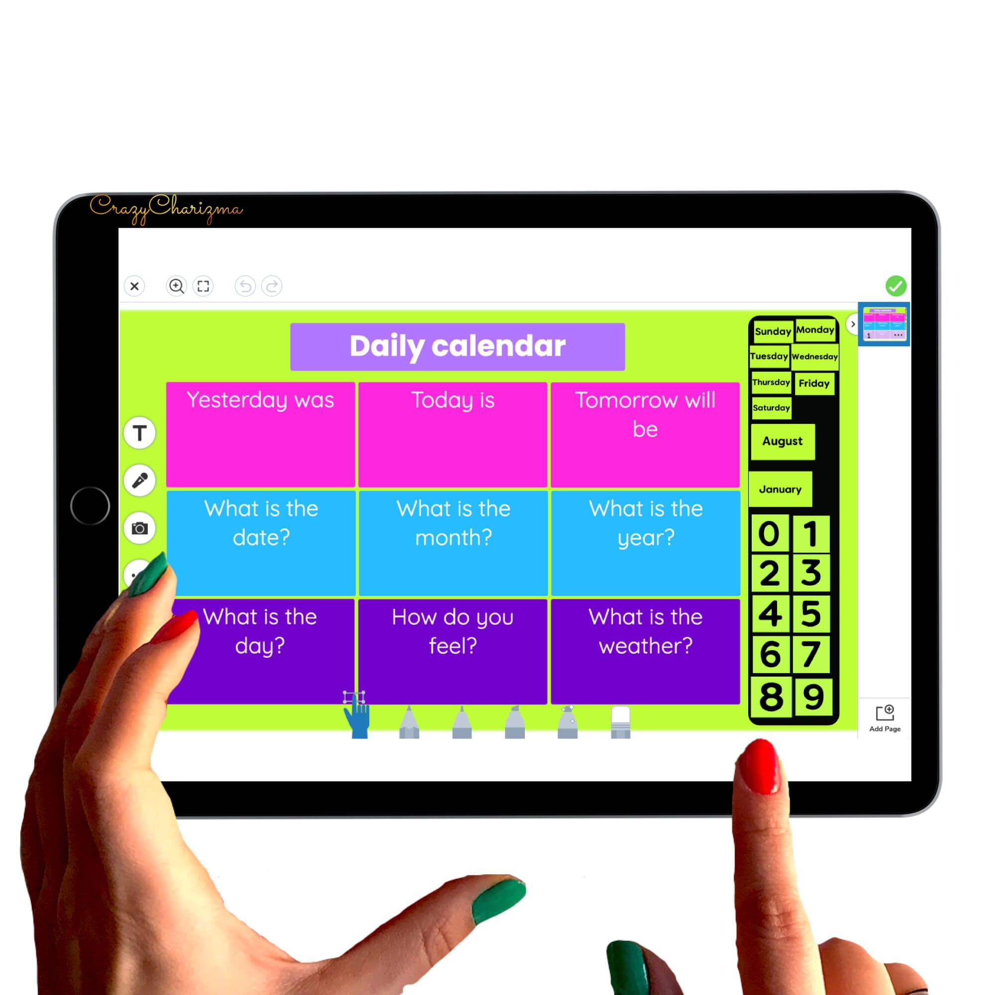 Free Daily Calendar for Seesaw