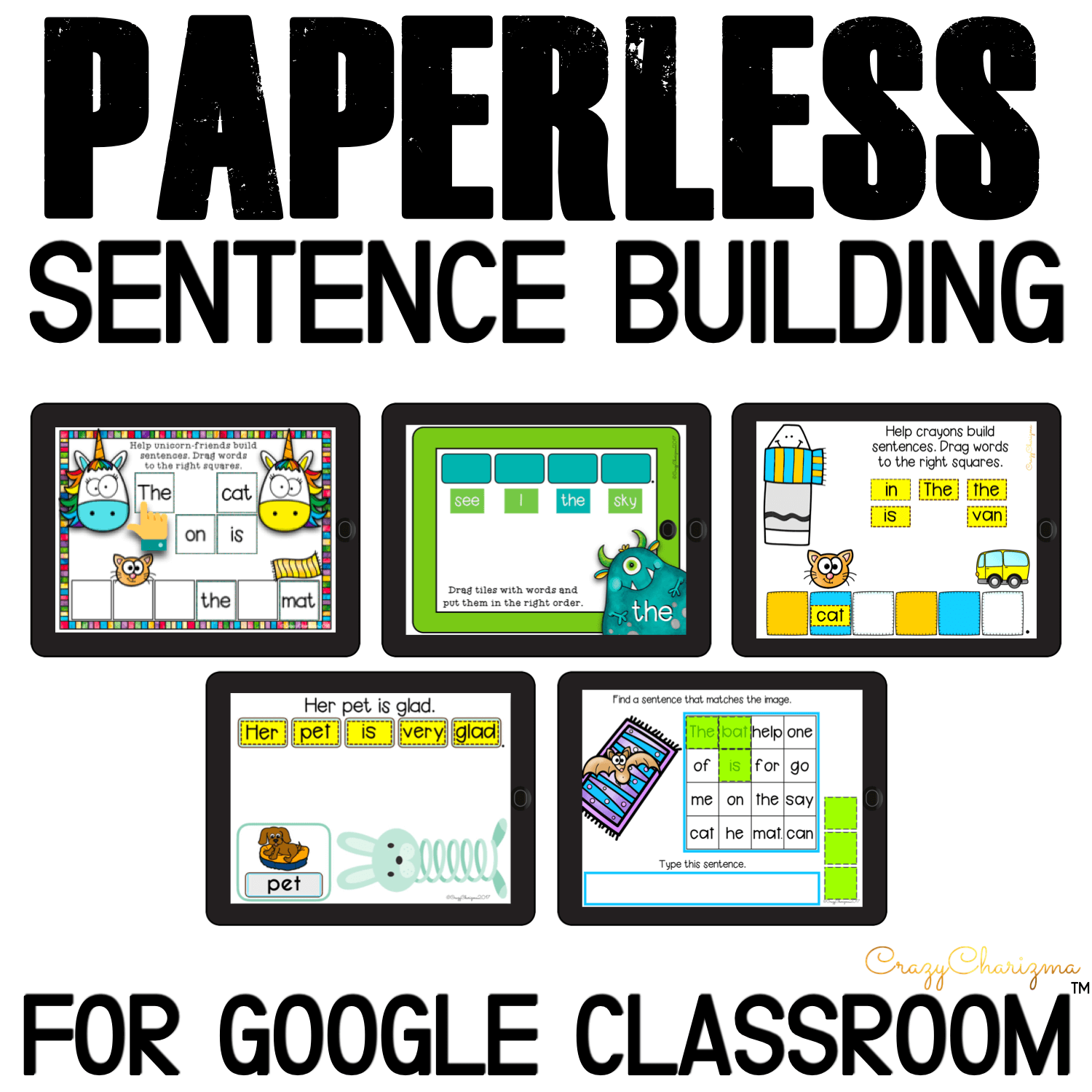Are you looking for fun ways to practice sentence building during distance learning? Check out the bundle of Google Classroom activities with engaging ways to practice building sentences for kids!