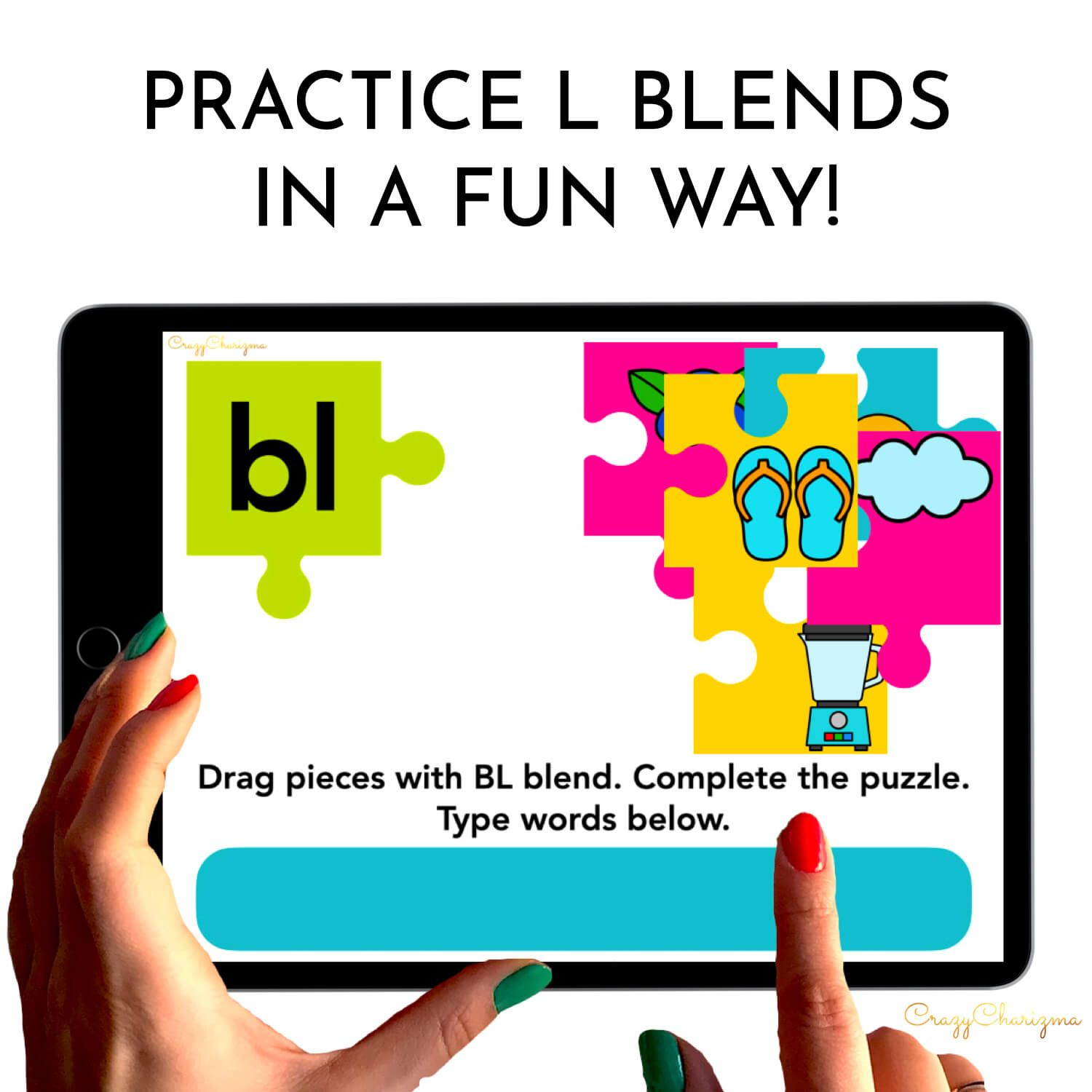 Need to practice beginning L BLENDS in a fun way? Check out these interactive puzzles for Google Classroom. Kids will match pieces of puzzles (images to the blend) and type the words.