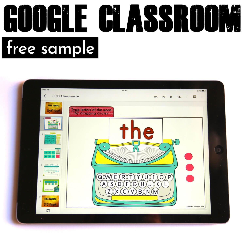 Free Google Classroom Activities