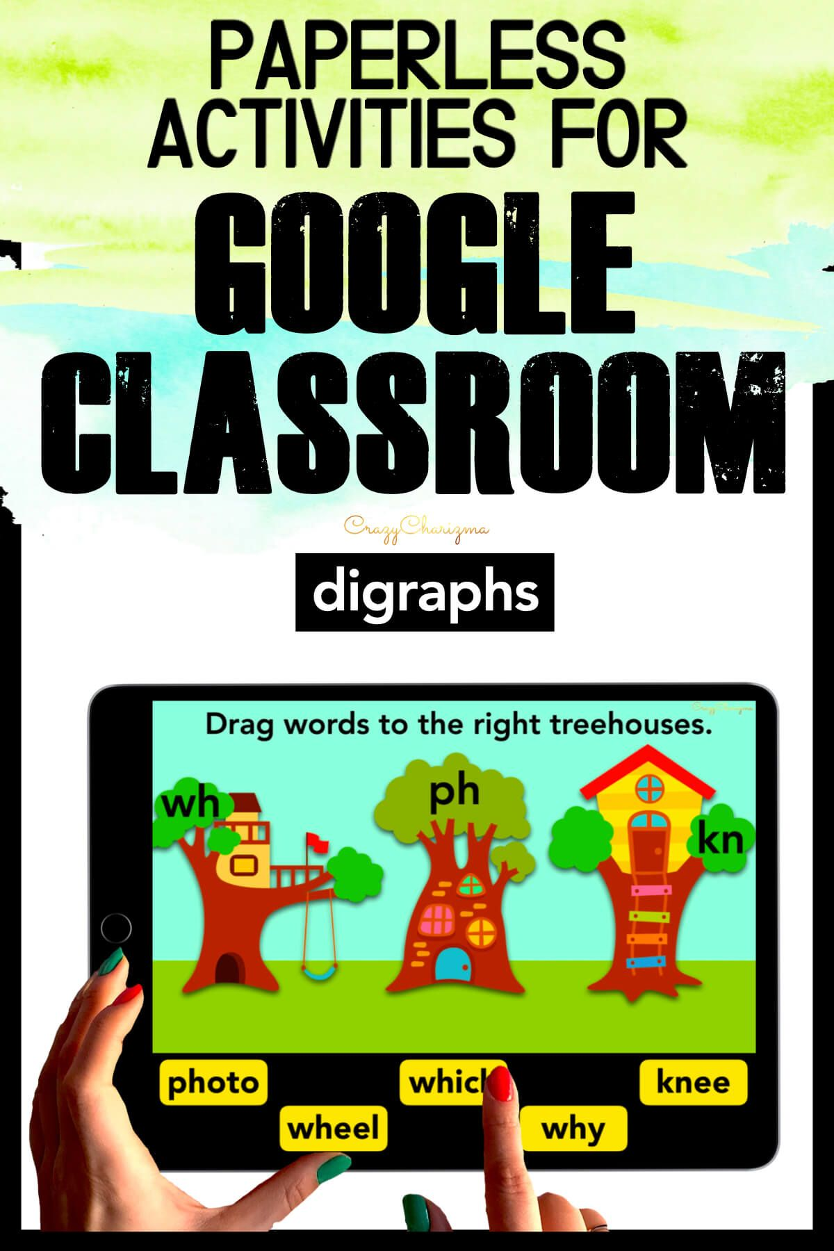 Need to practice beginning digraphs (CH, SH, TH, WH, PH, KN) and ending digraphs (CH, SH, TH) in a fun way? Check out these interactive slides for Google Classroom. Kids will drag words to the correct treehouses.