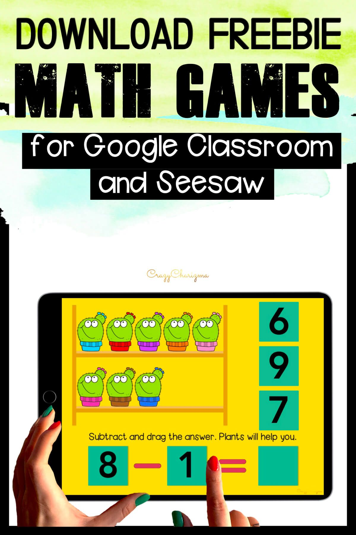 Need free math games for Google Classroom and Seesaw for distance learning or to use in the classroom? Check out these interactive activities and practice various math topics in kindergarten.