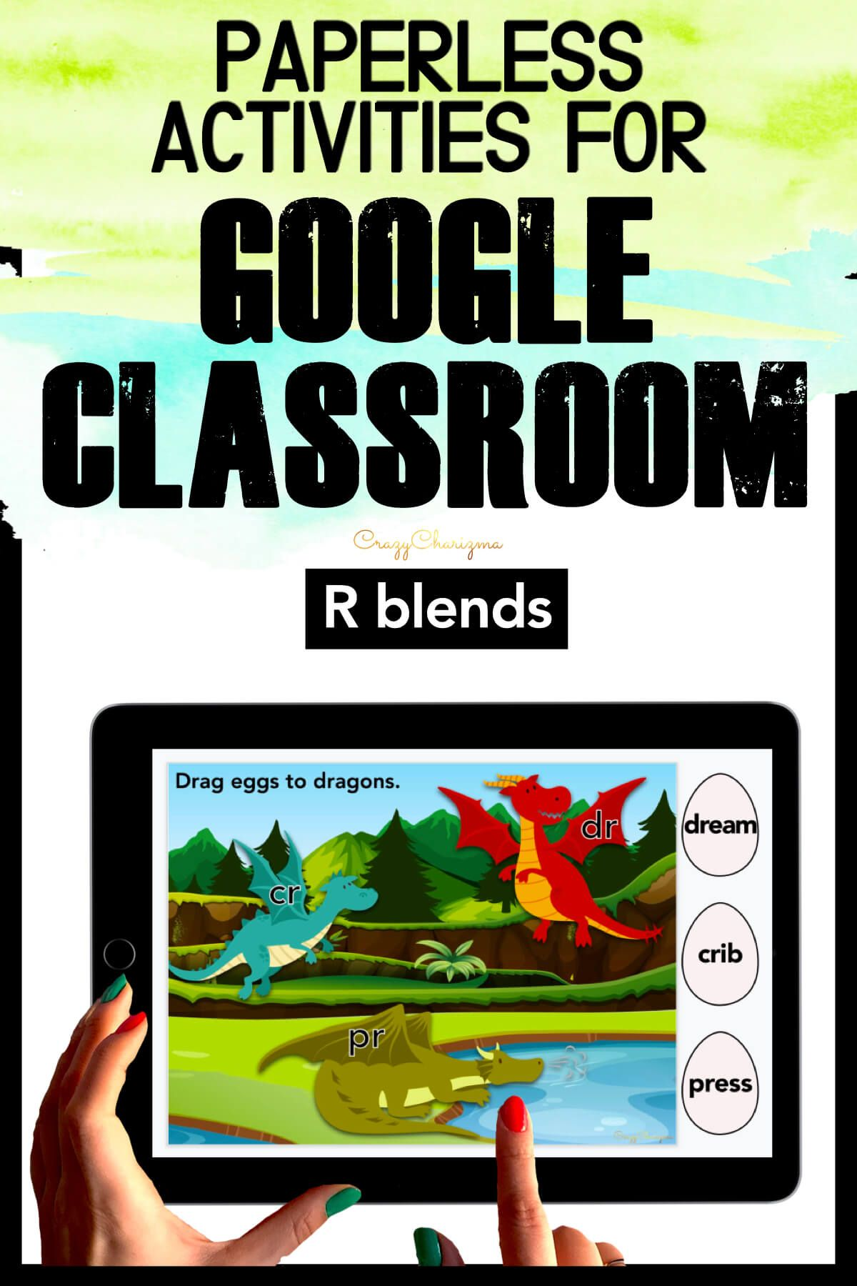 Need to practice beginning R BLENDS in a fun way? Check out these interactive activities for Google Classroom. Kids will drag words and match them with the corresponding blends (eggs and dragons theme).