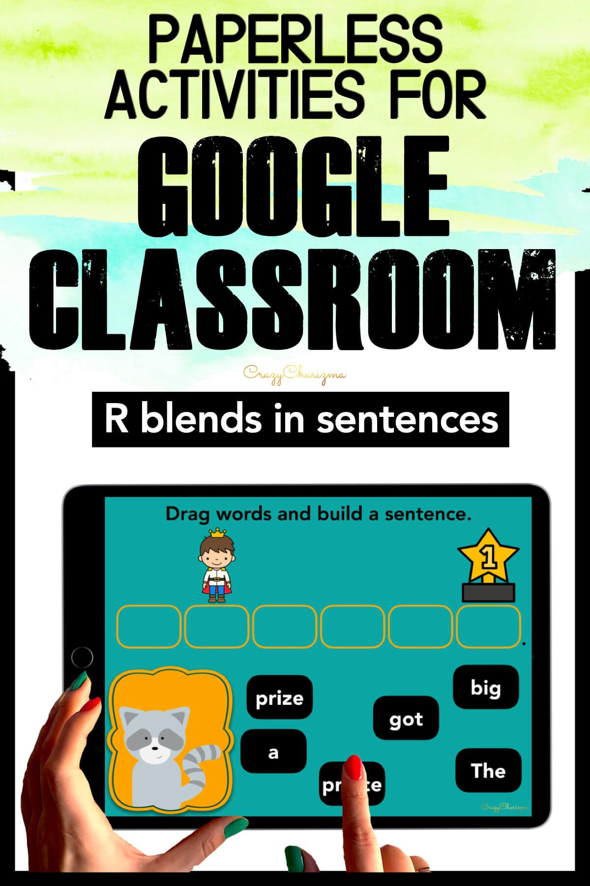 Need to practice beginning R BLENDS in sentences? Check out these interactive slides for Google Classroom. Kids will drag words and build sentences with animals!