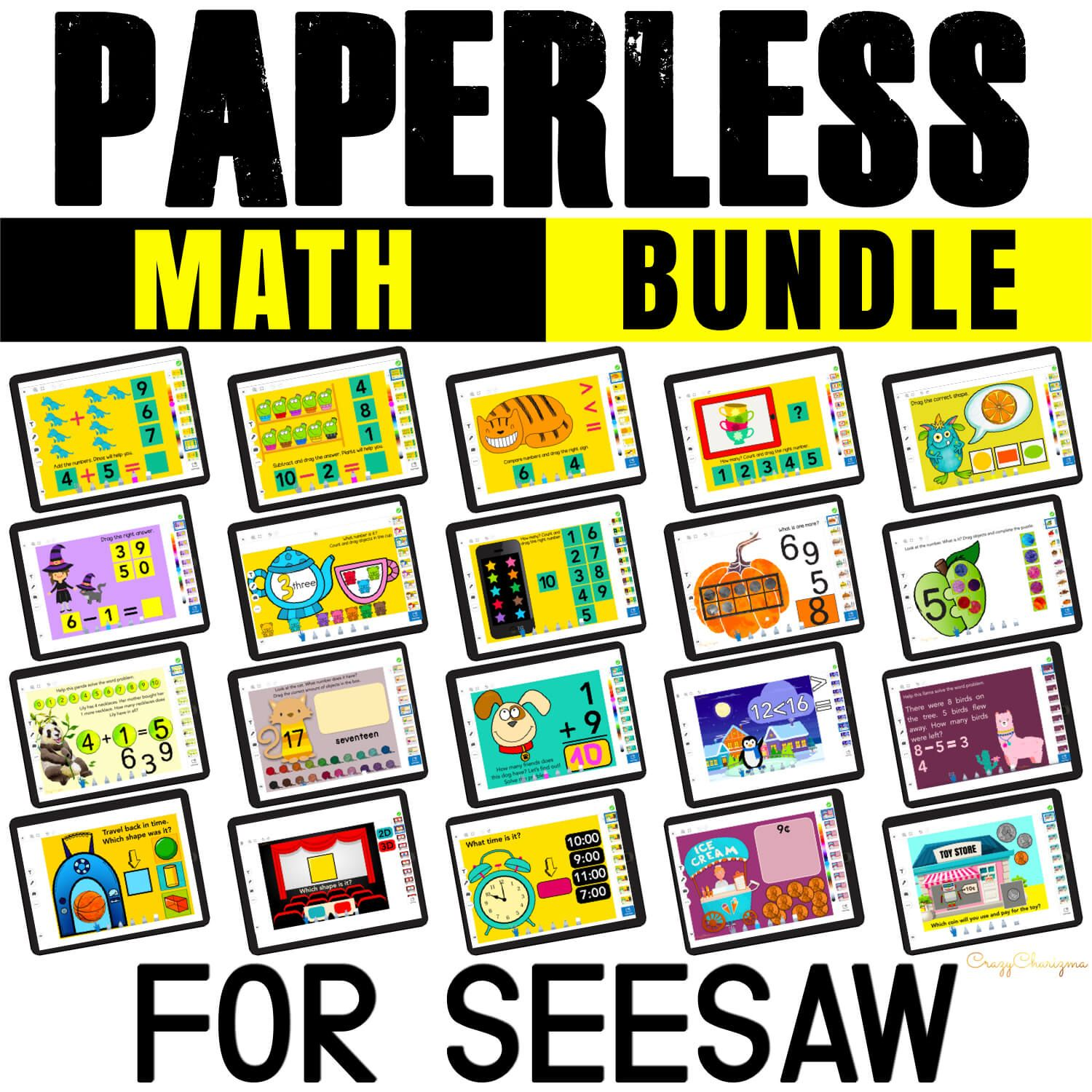 MATH GAMES FOR SEESAW