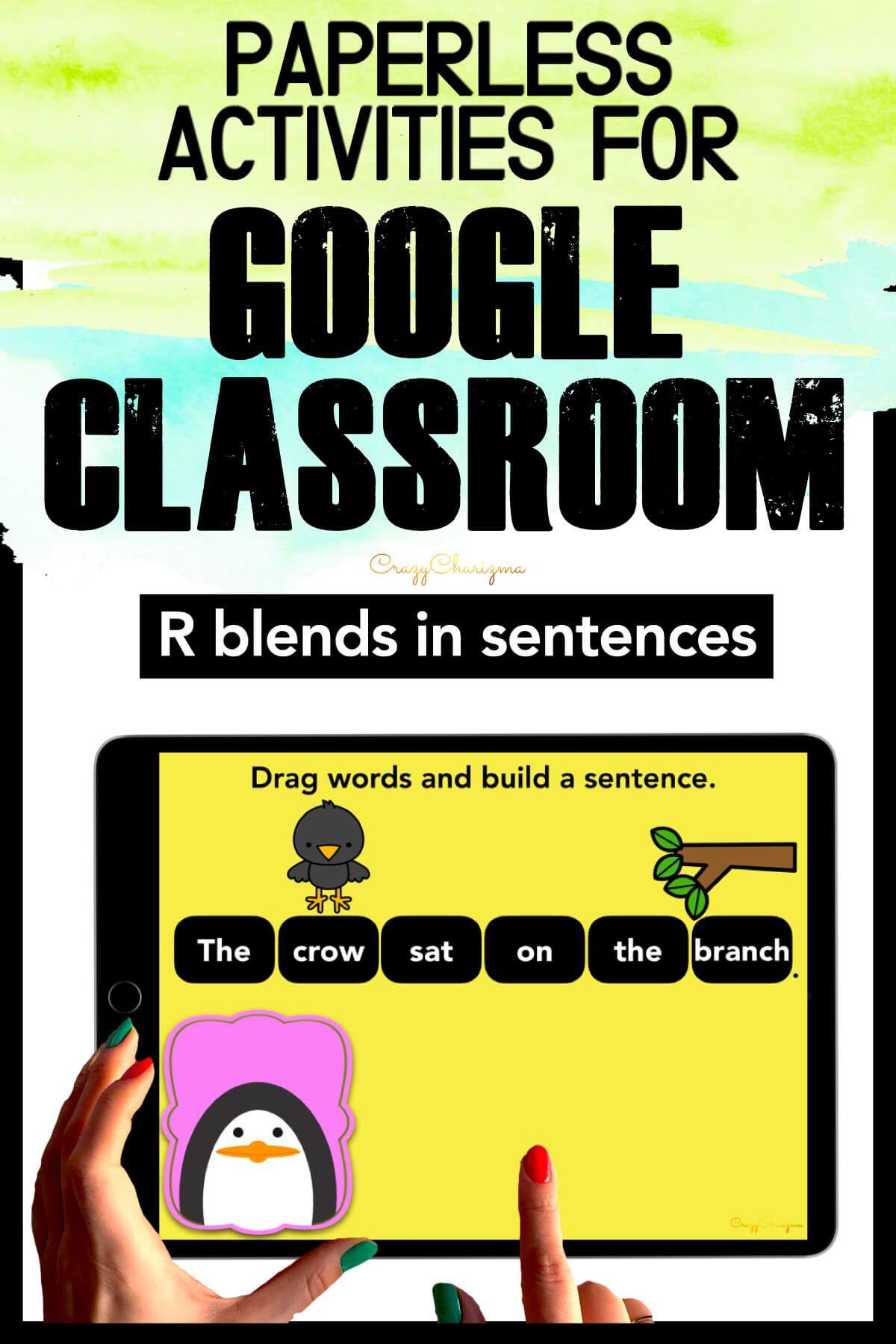 R Blends Sentences Google Classroom