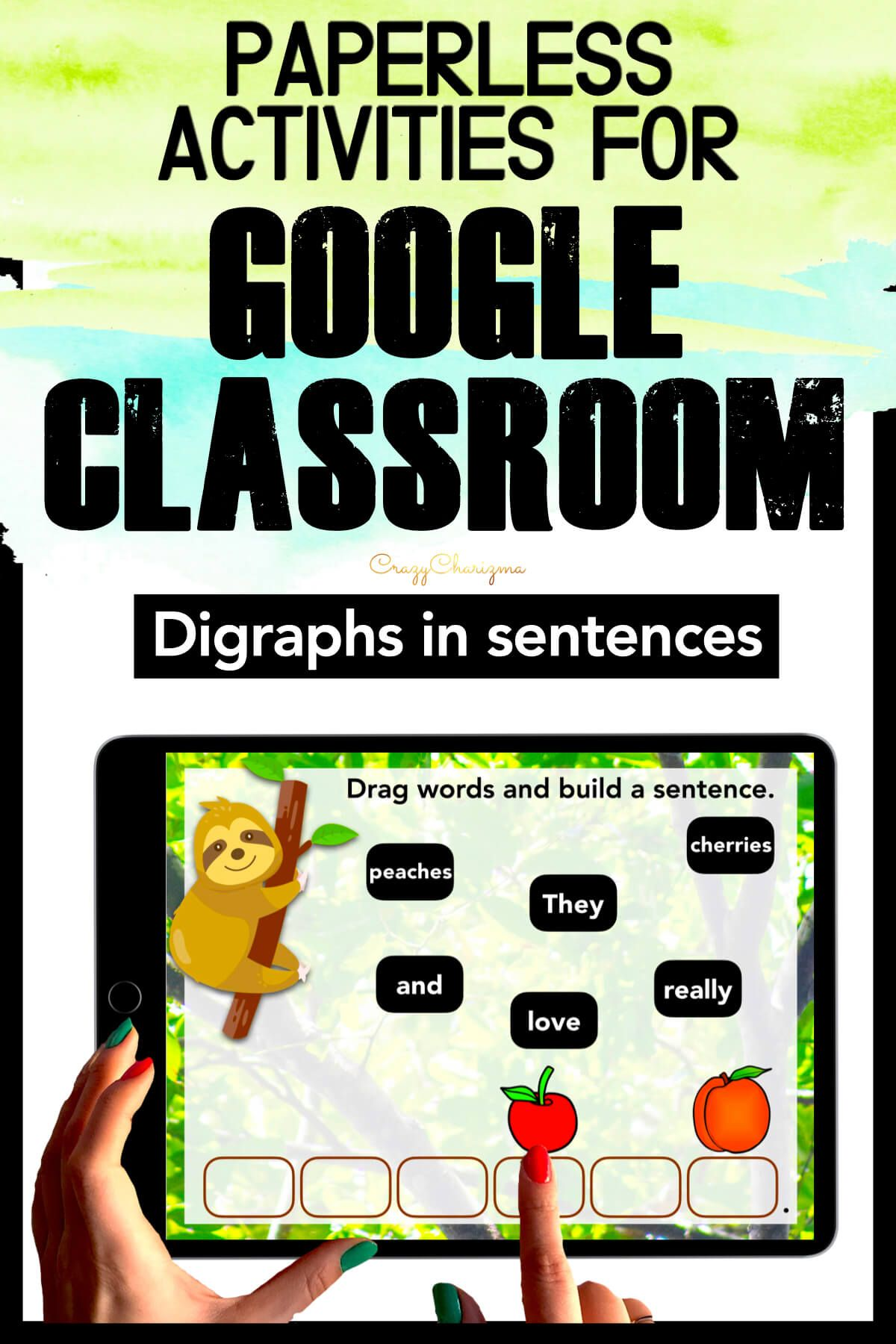Need to practice DIGRAPHS in sentences? Check out these interactive slides for Google Classroom. Kids will drag words and build sentences in the tropics!